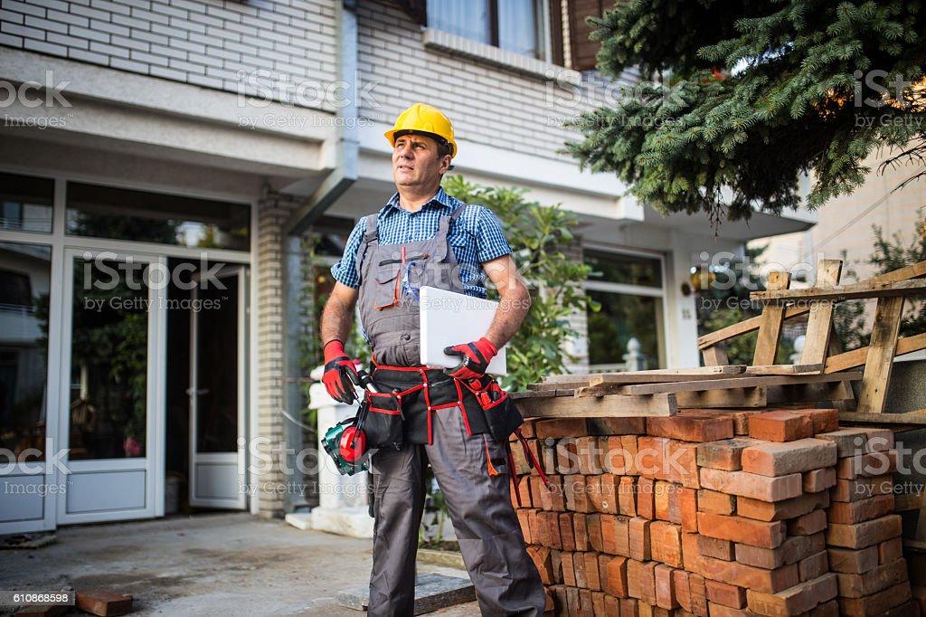 Construction planner stock photo