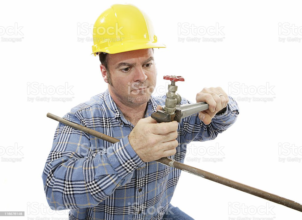 Construction Plumber Working royalty-free stock photo