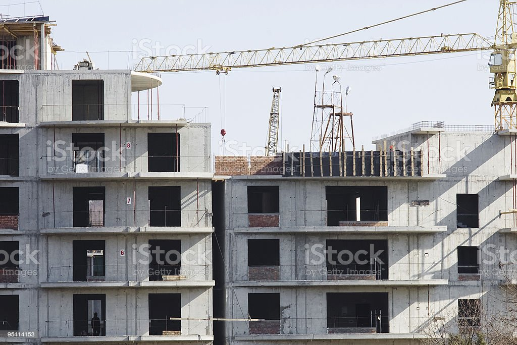 construction process - building floors stock photo