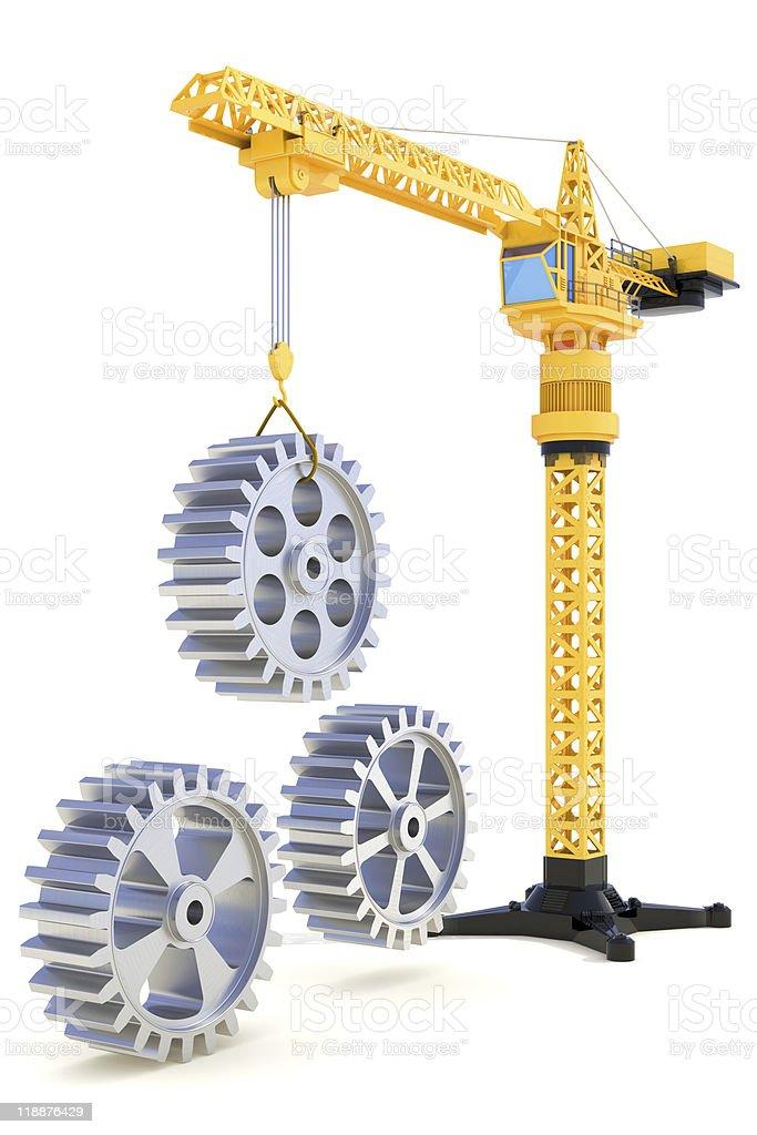 Construction process royalty-free stock photo