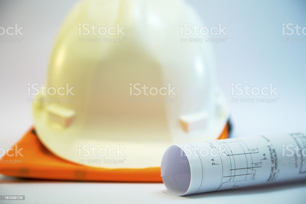 Construction project concept royalty-free stock photo
