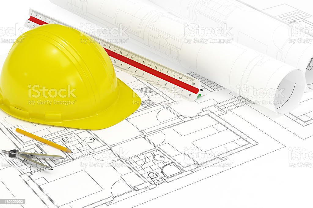 Construction Project Design royalty-free stock photo