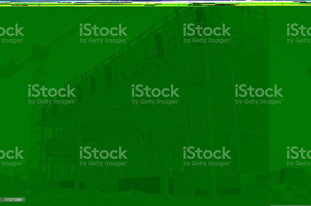 Construction Project in Winter royalty-free stock photo