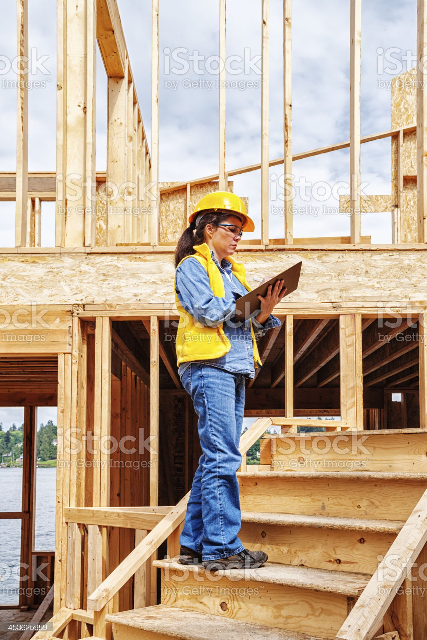 Construction Quality Inspector royalty-free stock photo