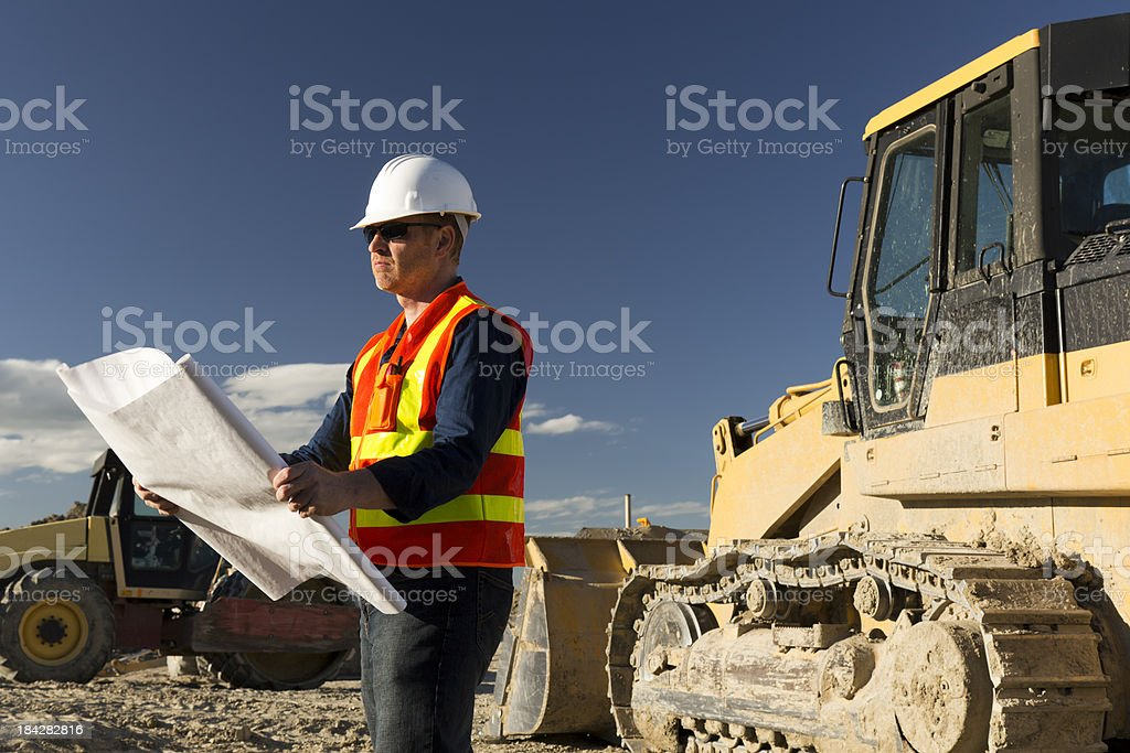 Construction Review royalty-free stock photo