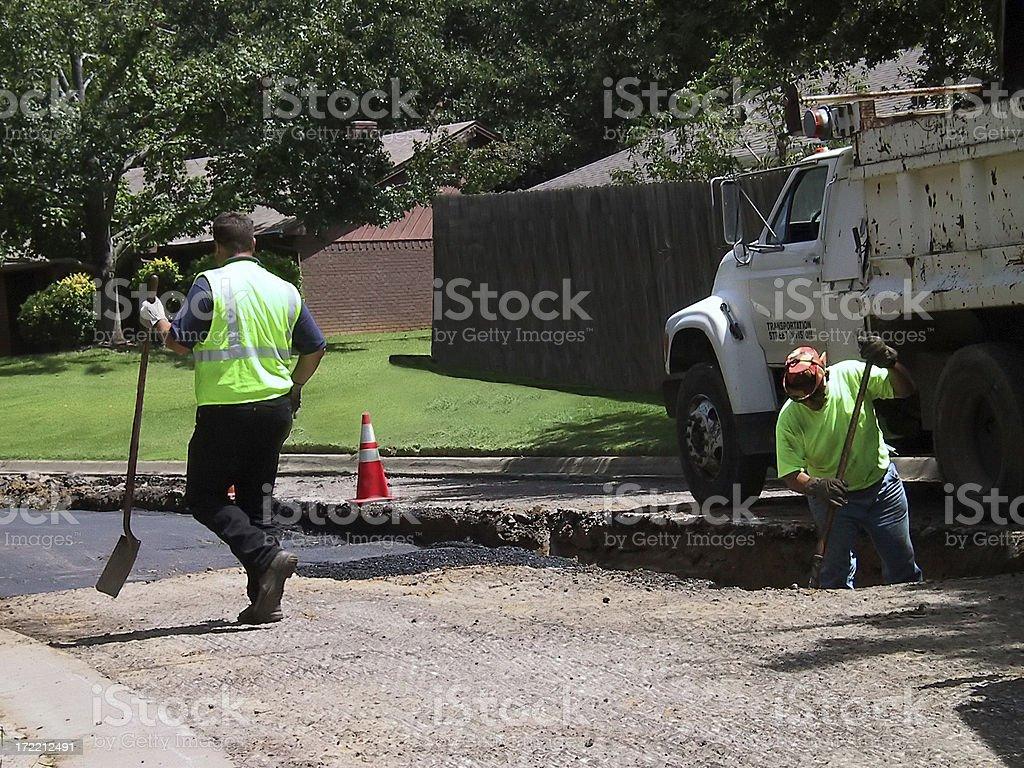 Construction - Road Repair royalty-free stock photo