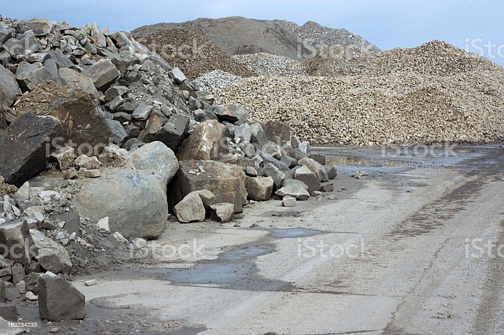 Construction Rubble stock photo
