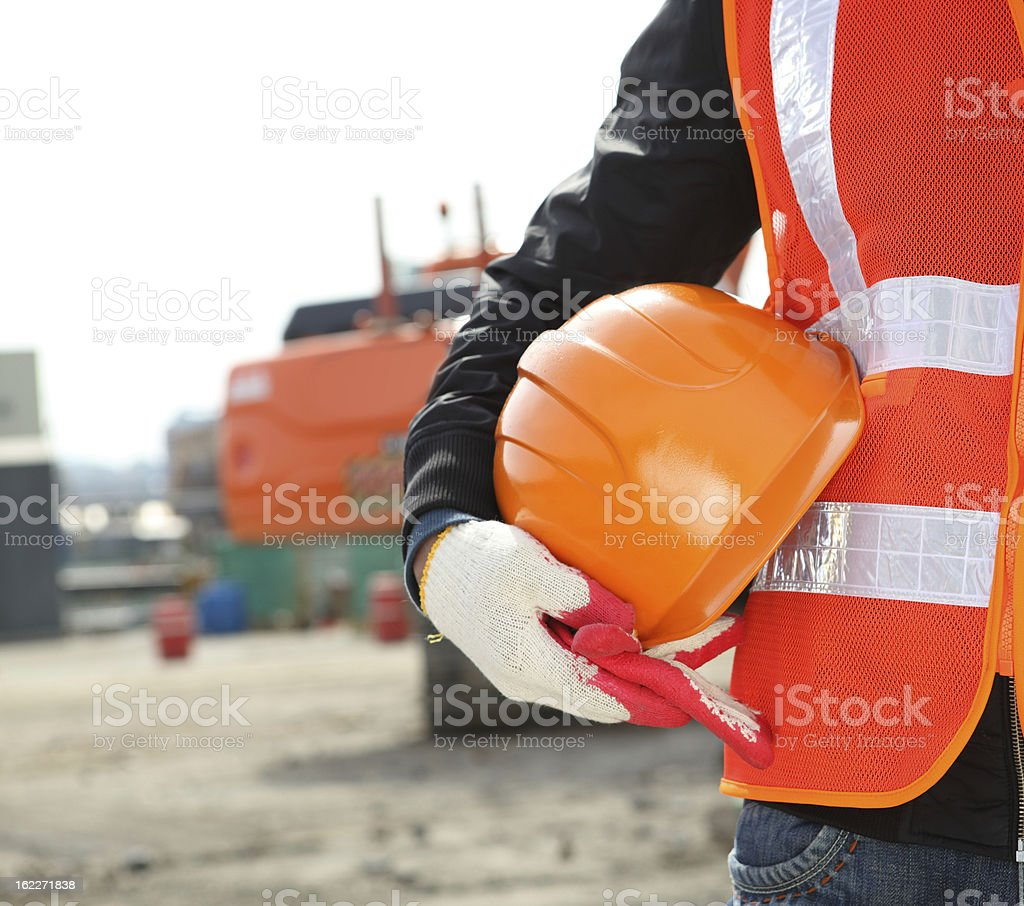 construction safety concept stock photo