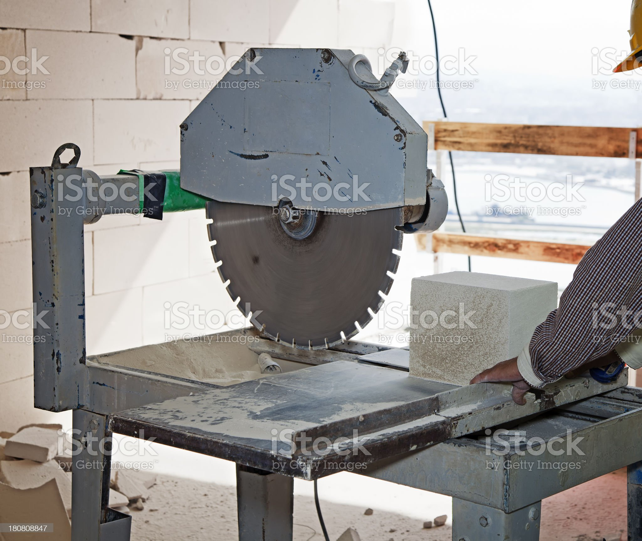 Construction saw royalty-free stock photo