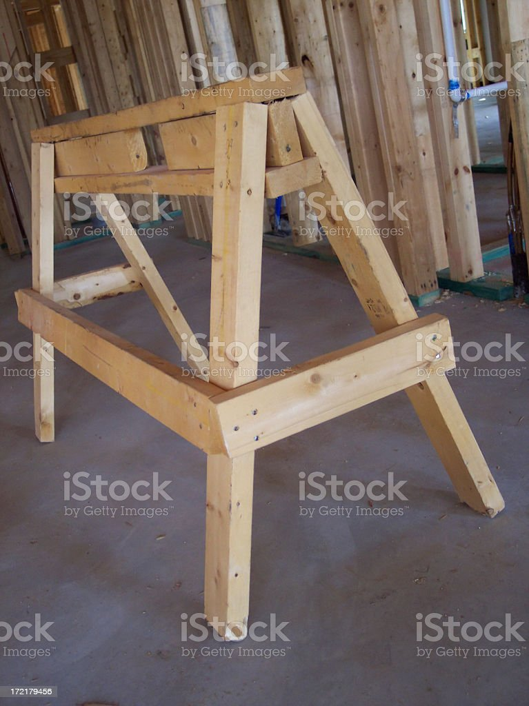 Construction Sawhorse royalty-free stock photo