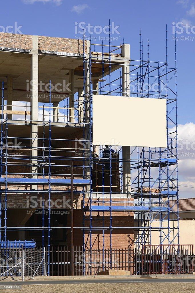 Construction scafolding - vertical royalty-free stock photo