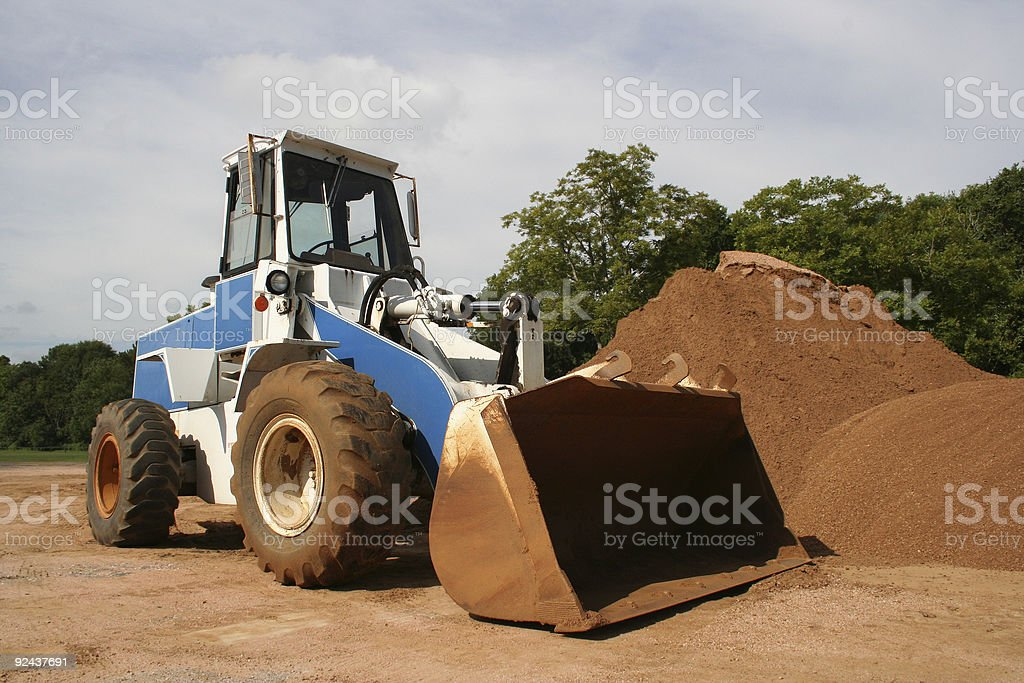 construction scoop 02 - frontloader royalty-free stock photo