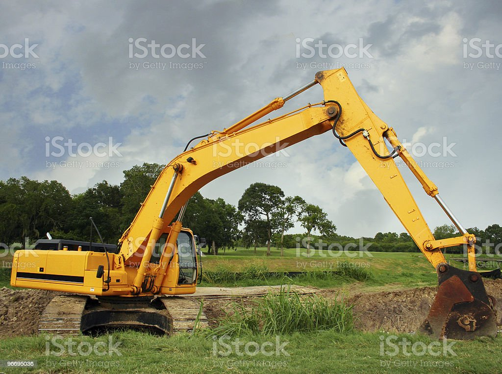 construction scoop royalty-free stock photo