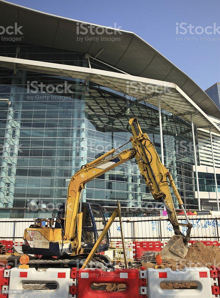 construction shovel royalty-free stock photo