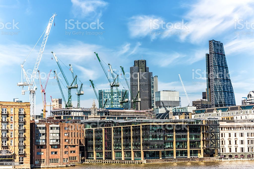 Construction Side London stock photo