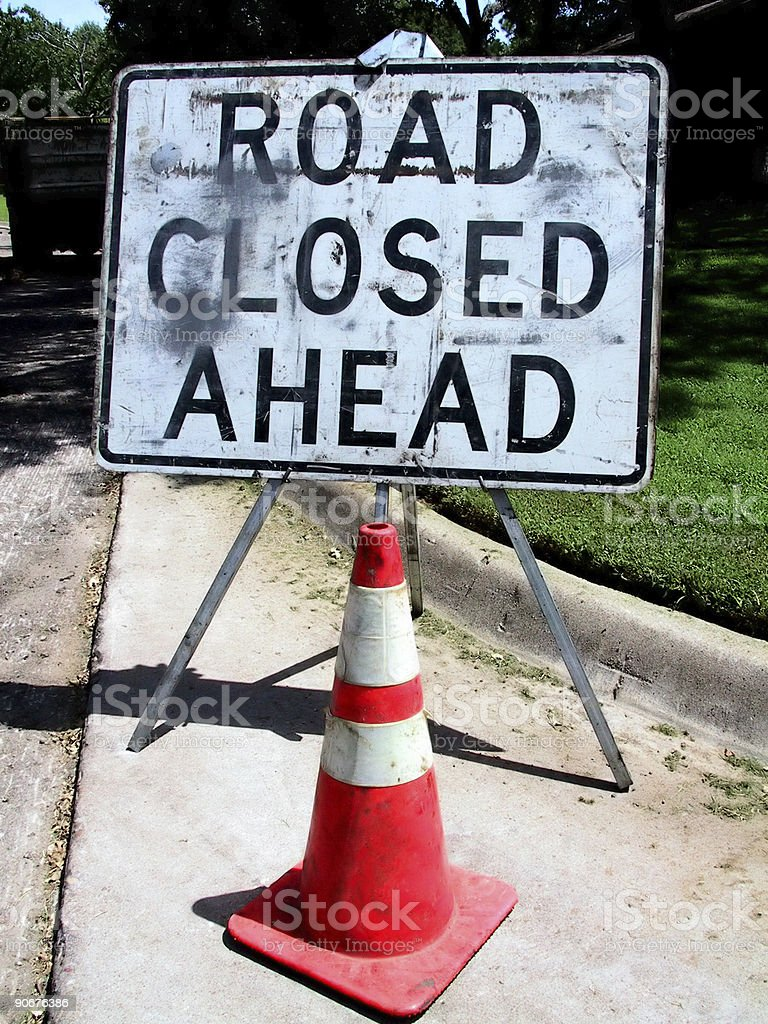 Construction - Sign Road Closed royalty-free stock photo