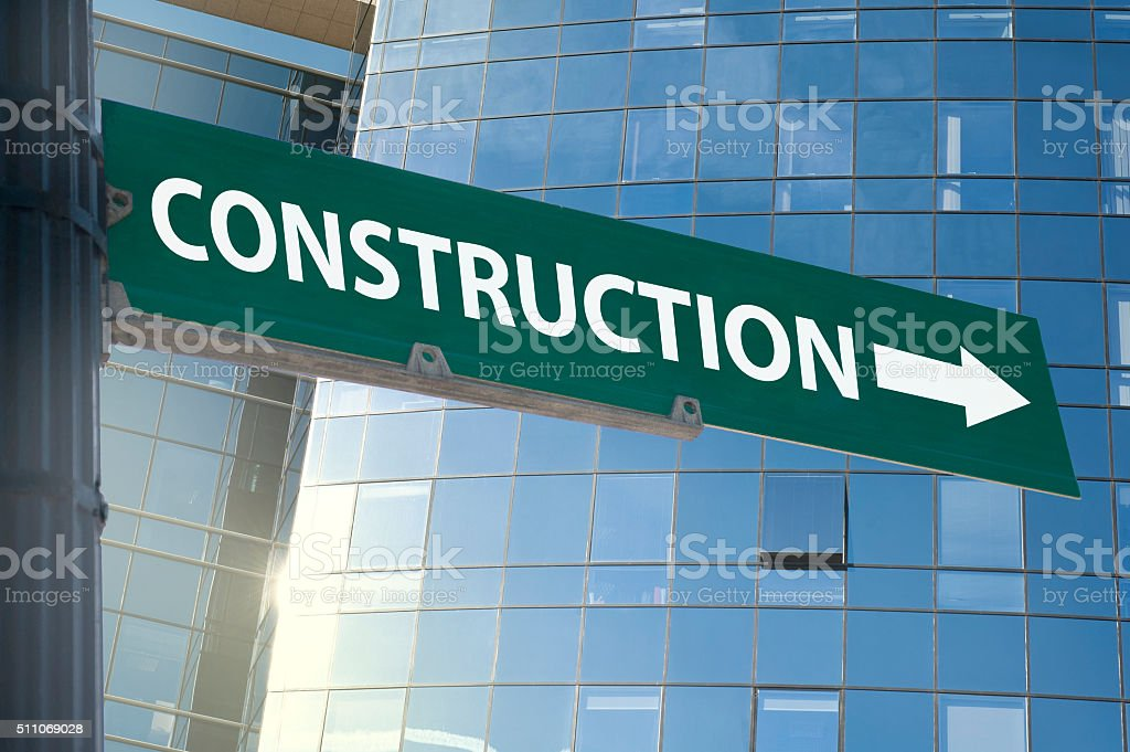 Construction sign / Traffic sign concept (Click for more) stock photo