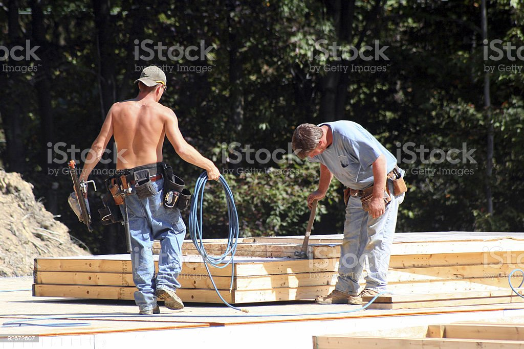Construction Site 1 (modular home) royalty-free stock photo