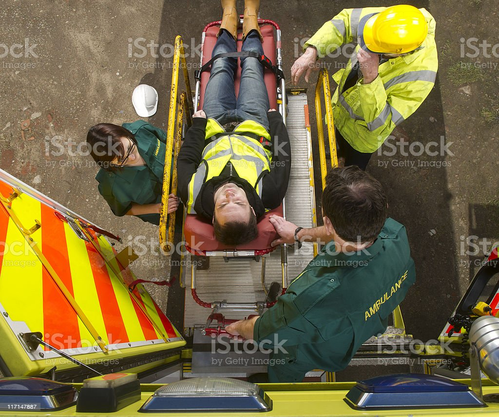 construction site accident stock photo