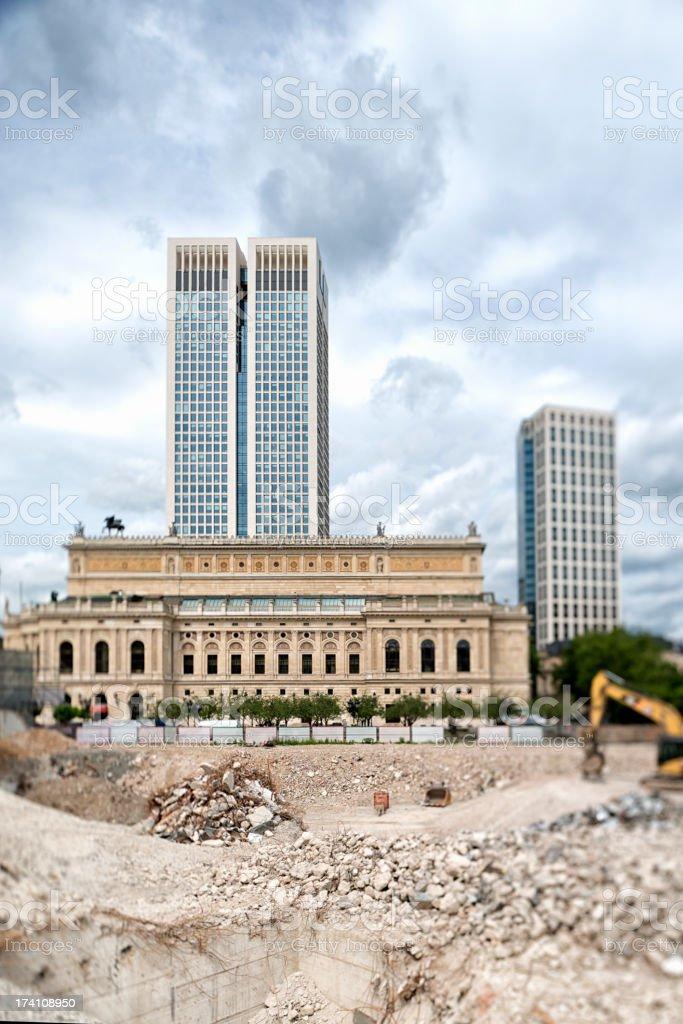 Construction site, Alte Oper, Opernturm, Frankfurt, Germany stock photo