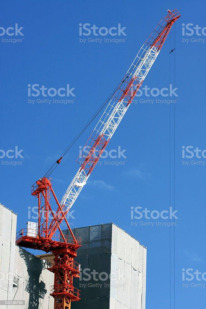Baustelle und crane Lizenzfreies stock-foto