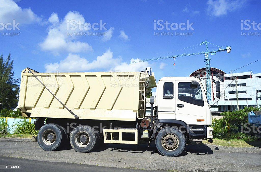 construction site and dumptruck royalty-free stock photo