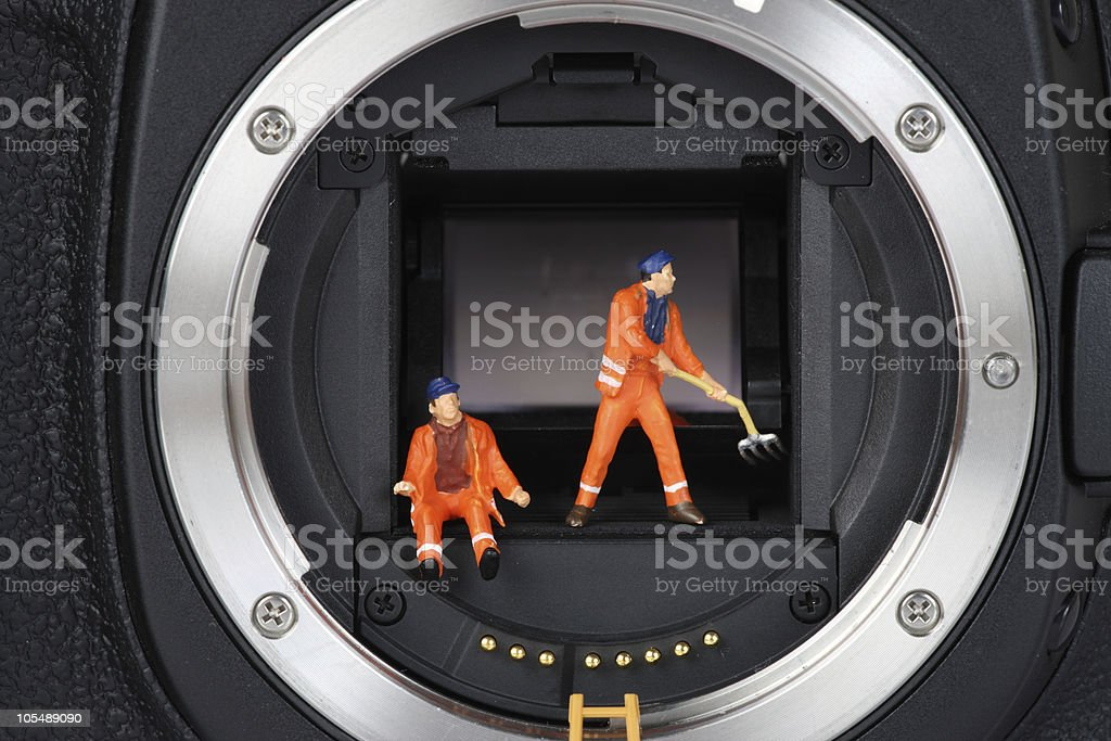 chantier apareil photo 3 stock photo