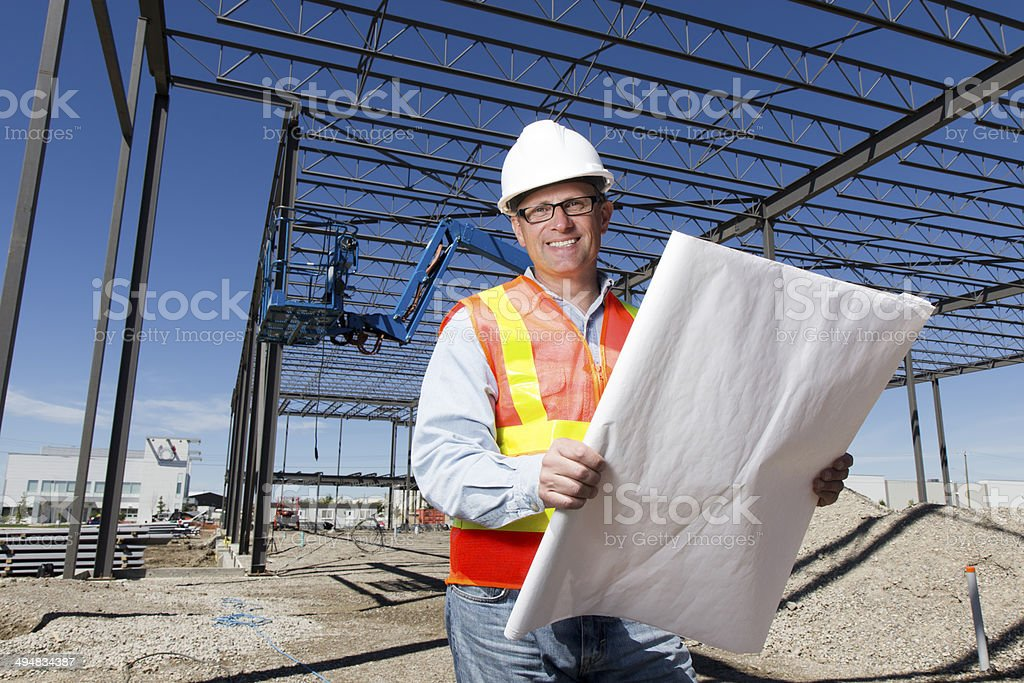 Construction Site Architect stock photo