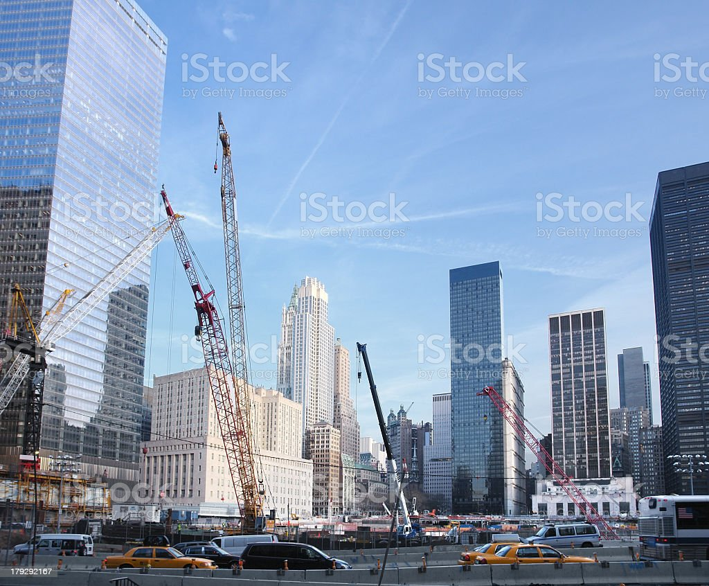 construction site at Ground Zero royalty-free stock photo
