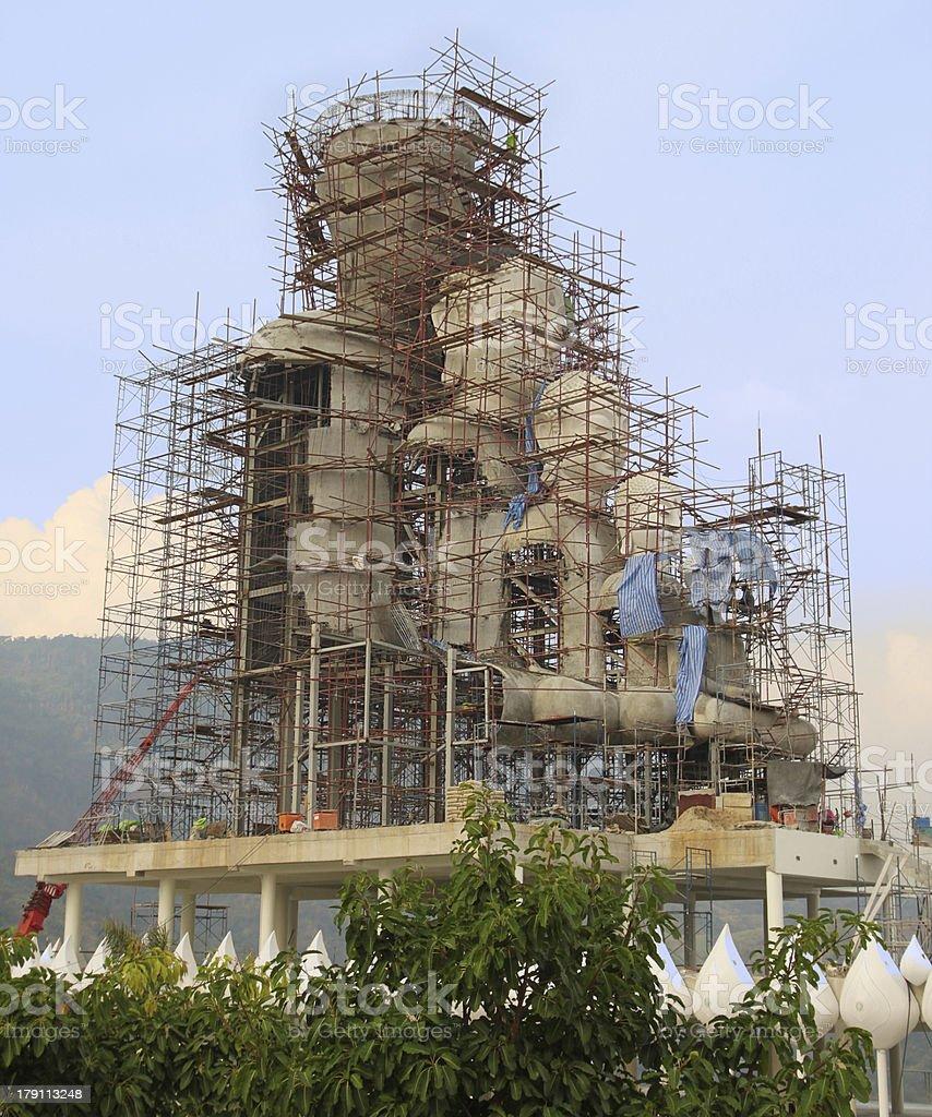 construction site at Wat Pha Sorn Kaew royalty-free stock photo