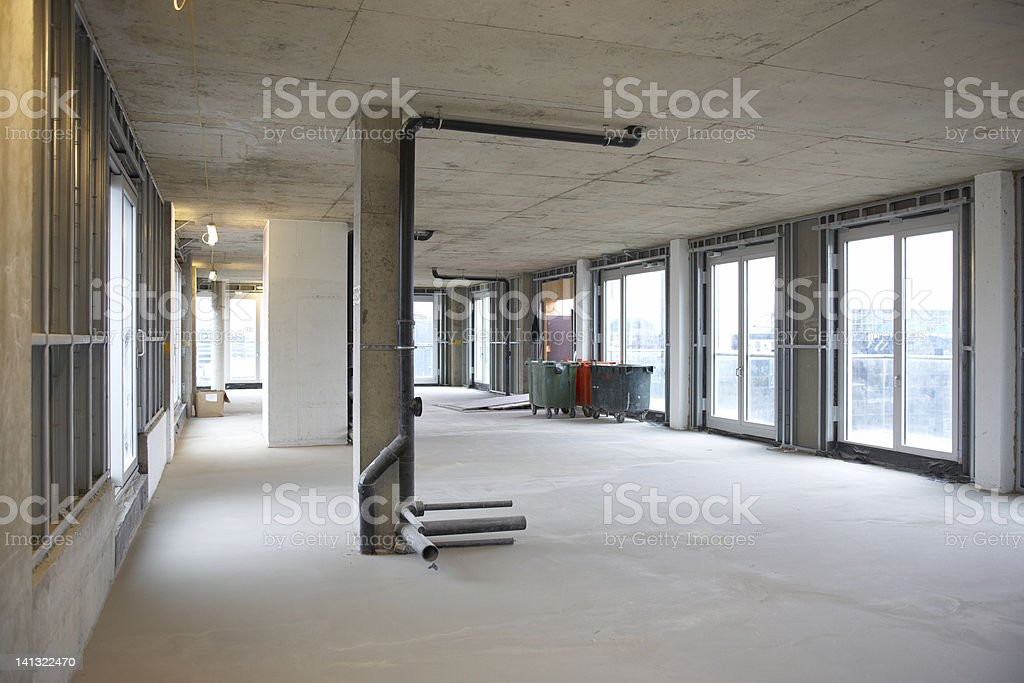 Construction site building interior royalty-free stock photo