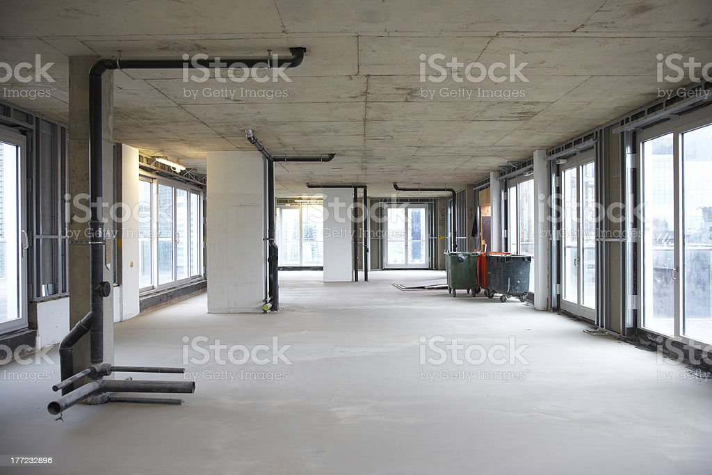 Construction site building interior stock photo