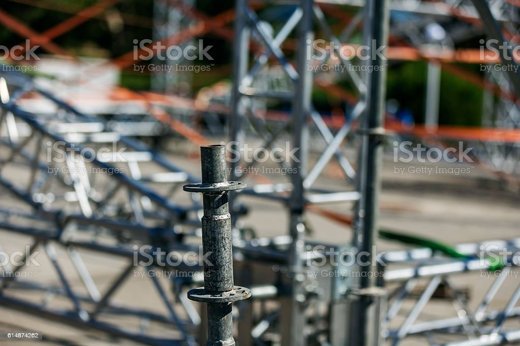 Construction site. Constructing a new stage stock photo