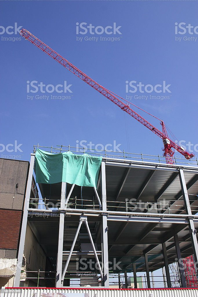 construction site crane royalty-free stock photo
