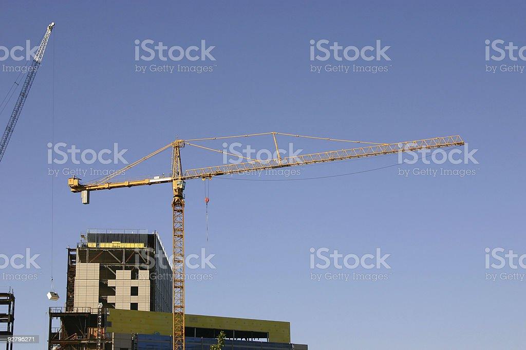 Construction Site Crane royalty-free stock photo