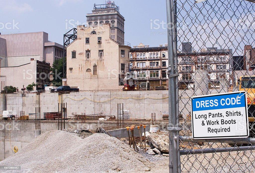 Construction Site Dress Code stock photo