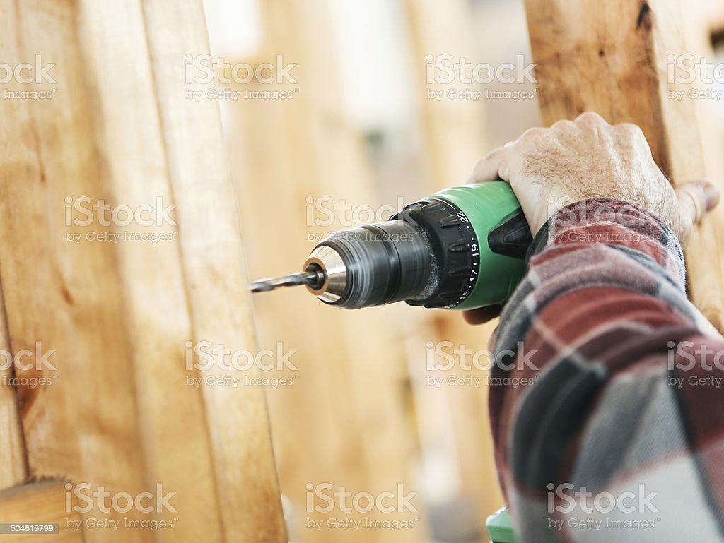 Construction Site - Drilling stock photo