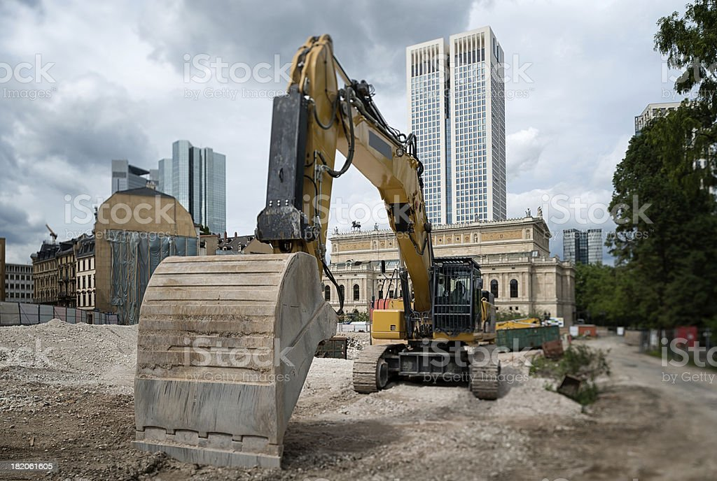 Construction site, Frankfurt, Germany stock photo