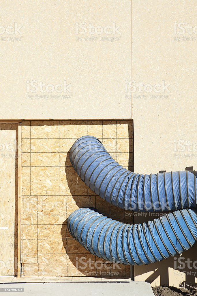 Construction Site Fresh Air Ventilation Ducts stock photo