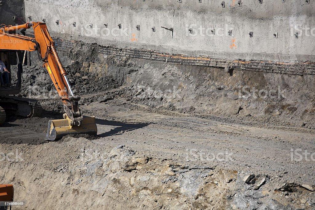 Construction site heavy equipment royalty-free stock photo