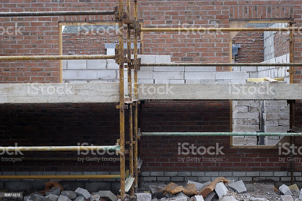 construction site, house building royalty-free stock photo