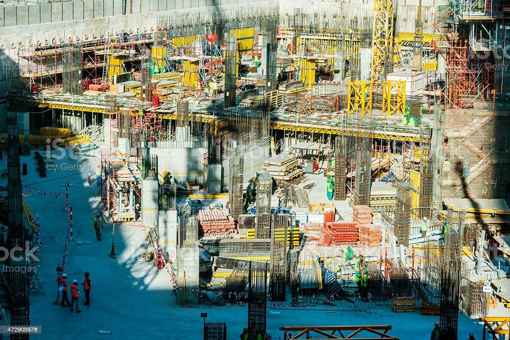 Construction site in Dubai, UAE stock photo