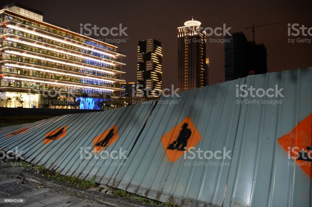 Construction site in Kaohsiung, Taiwan stock photo