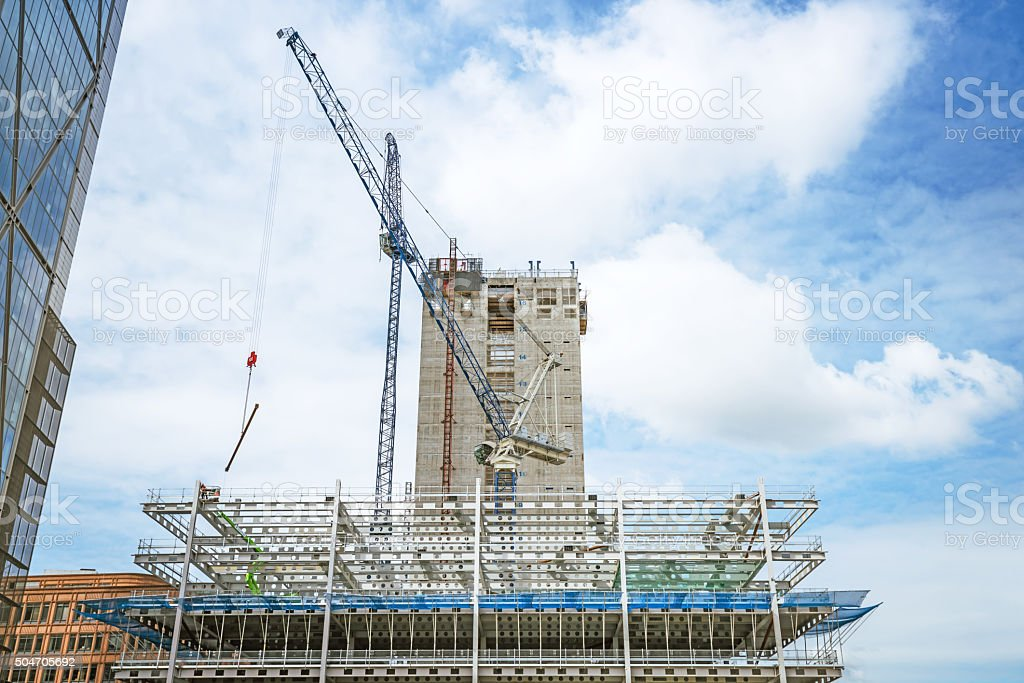 construction site in London, UK stock photo