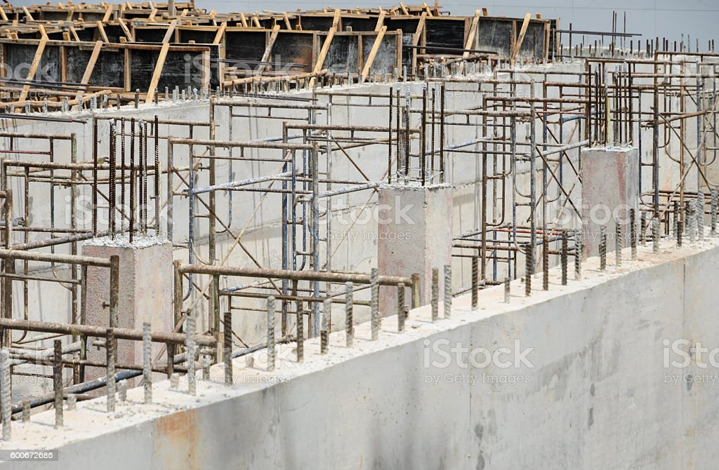 construction site in progress stock photo