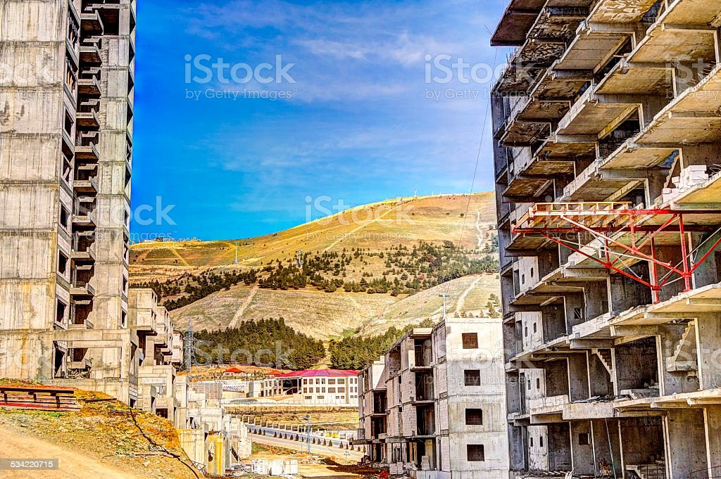 Construction Site in Sulaymaniyah stock photo