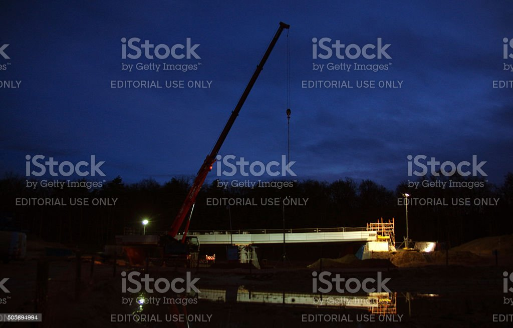 Construction site in the country. stock photo