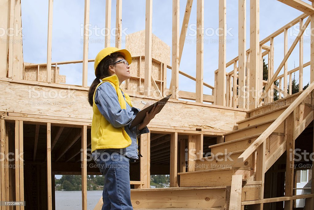 Construction Site Inspector royalty-free stock photo