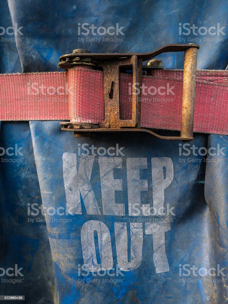 Construction Site Keep Out Sign stock photo