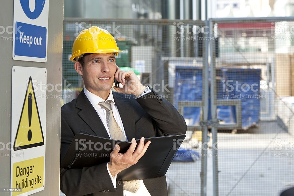 Construction Site Manager royalty-free stock photo